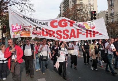 Manifestation Paris Urssaf